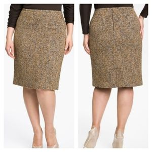 "Nic + Zoe | ""Tweed Flirt"" knit pencil skirt sz 16"